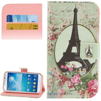 Kožené púzdro pre Samsung Galaxy S IV mini / i9190- Eiffel Tower