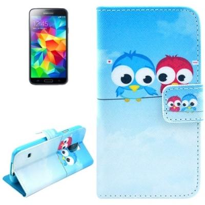 Kožené púzdro pre Samsung Galaxy S5- Owls
