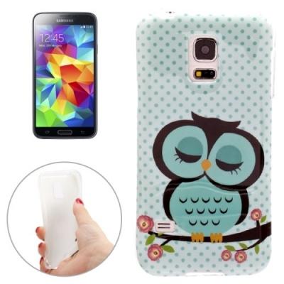 Ochranný flexi kryt pre Samsung Galaxy S5 mini/G800- Sleeping Owls
