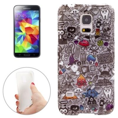 Ochranný kryt pre Samsung Galaxy S5 mini/G800- sivé príšerky