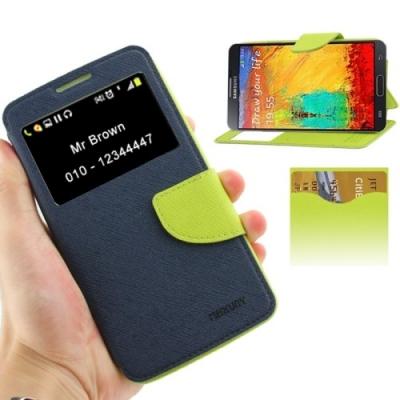 Dizajnové kožené púzdro pre Samsung Galaxy N III / N9000 - dark blue