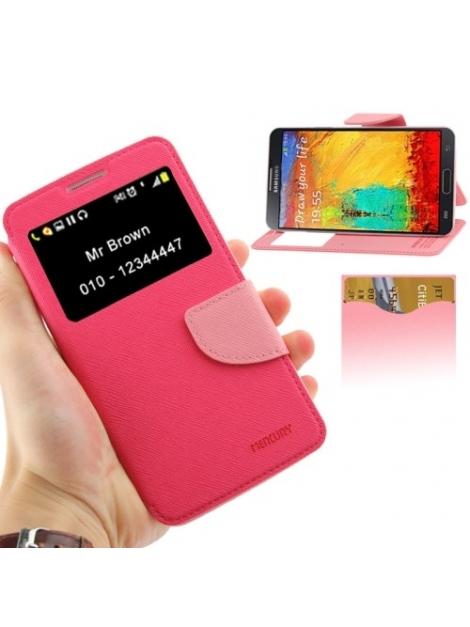 Dizajnové kožené púzdro pre Samsung Galaxy N III / N9000 - rose pink