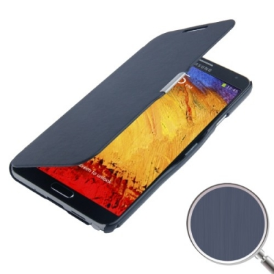 Samsung Galaxy Note III / N9000 Módne diárové ochranné púzdro- dark blue