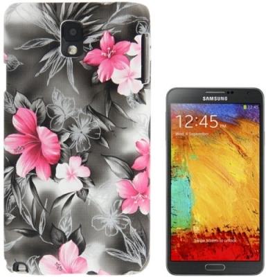 Ochranný kryt pre Samsung Galaxy Note III / N9000- Flowers grey