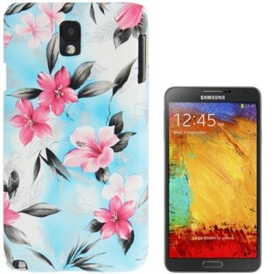 Ochranný kryt pre Samsung Galaxy Note III / N9000- Flowers blue