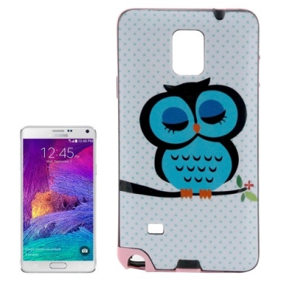 Ochranný kryt s rámom pre Samsung Galaxy  Note4/N910- owl