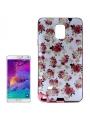 Ochranný kryt s rámom pre Samsung Galaxy  Note4/N910- roses