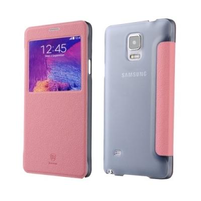 Dizajnové kožené púzdro pre Samsung Galaxy N 4 / N910 - pink