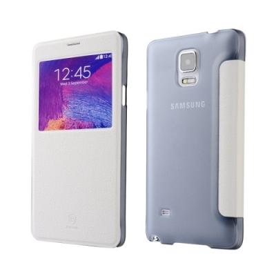Dizajnové kožené púzdro pre Samsung Galaxy N 4 / N910 - white
