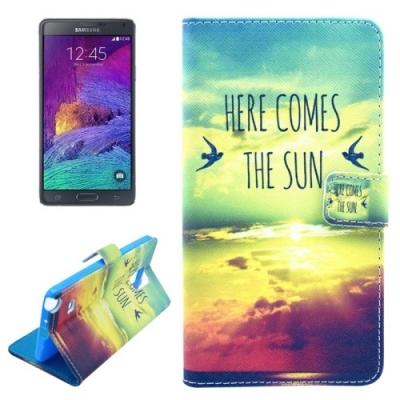Kožené púzdro pre Samsung Galaxy Note 4 - Here Comes The Sun
