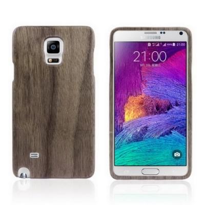 Kvalitný drevený obal pre Samsung Galxy Note4/N910- coffee