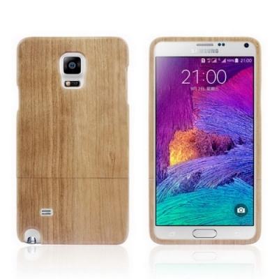Kvalitný drevený obal pre Samsung Galxy Note4/N910- yellow