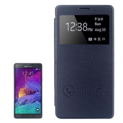 Dizajnové kožené púzdro pre Samsung Galaxy N 4 / N910 - black