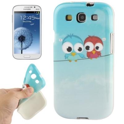 Ochranný flexi kryt pre Samsung Galaxy SIII- Owls