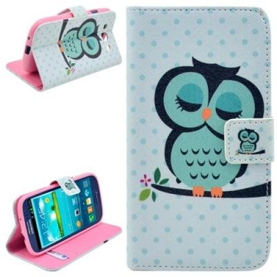 Kožené púzdro pre Samsung Galaxy S3/i9300 - Owl