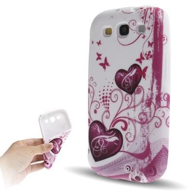 Ochranný flexi kryt pre Samsung Galaxy SIII- Hearts