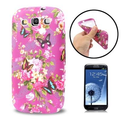 Flexi ochranný kryt pre Samsung Galaxy SIII- butterfly