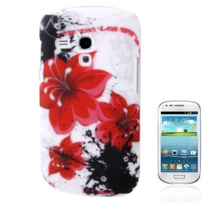 Ochranný kryt Samsung Galaxy SIII mini- red flowers