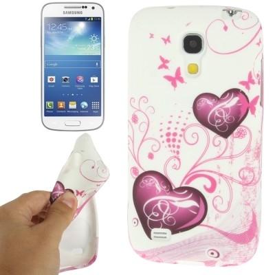 Ochranný flexi kryt pre Samsung Galaxy S IV mini / i9190- hearts