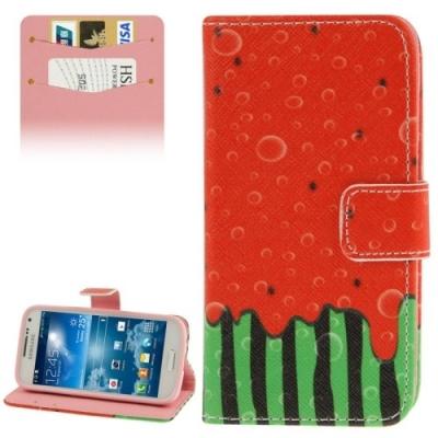 Kožené púzdro pre Samsung Galaxy S IV mini / i9190- Watermelon