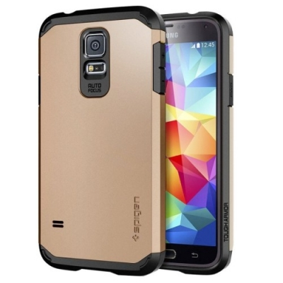Armor Case pre Samsung Galaxy S5- golden