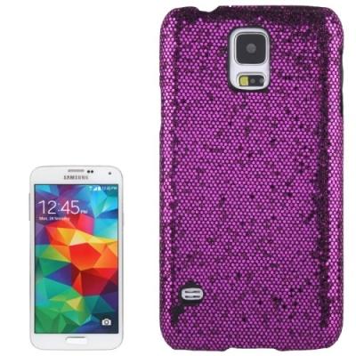 Trblietavý ochranný kryt pre Samsung Galaxy S5- dark purple