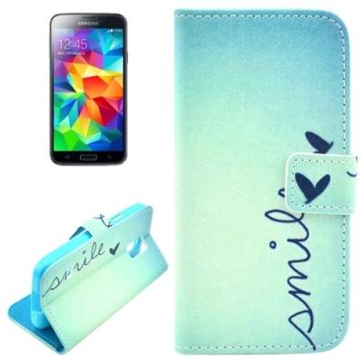 Kožené púzdro pre Samsung Galaxy S5- Smile