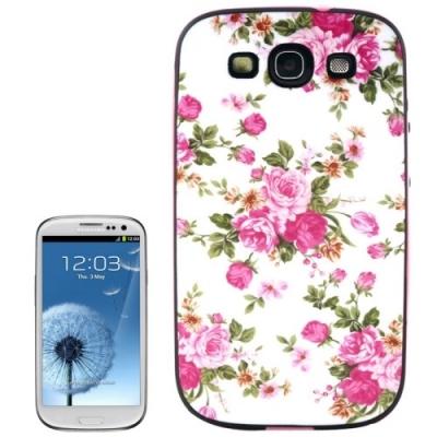 Ochranný kryt s rámom pre Samsung Galaxy SIII/i9300- Roses
