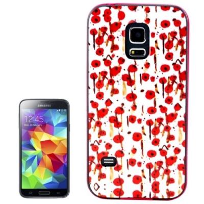 Ochranný kryt s rámom pre Samsung Galaxy S5 mini/G800- Cherry