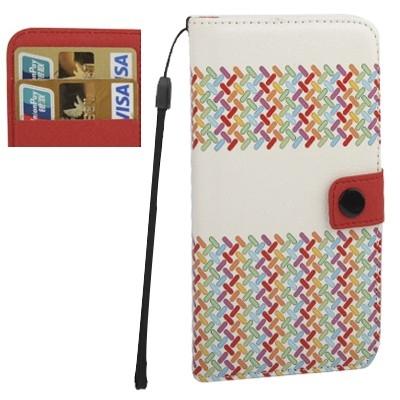 Kožené púzdro pre iPhone4/4S - Colourful Weave