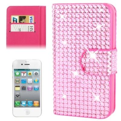 Diamantové púzdro pre iPhone4/4S - pink