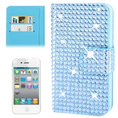 Diamantové púzdro pre iPhone4/4S - blue
