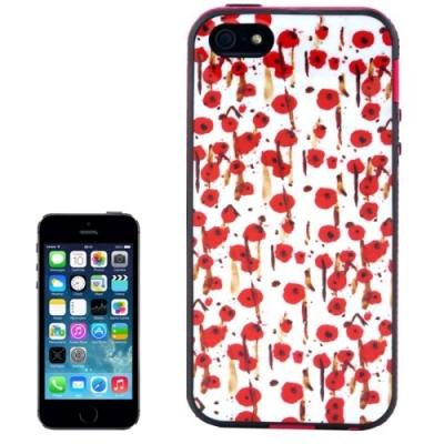 Ochranný kryt s rámom pre iPhone 5  - Cherry