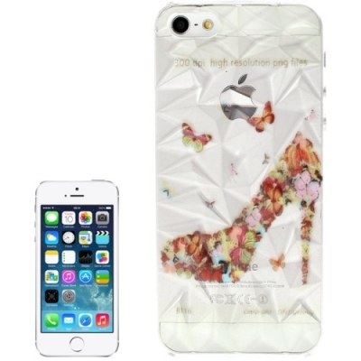 3D ochranný kryt pre iPhone 5  - Butterfly Shoes