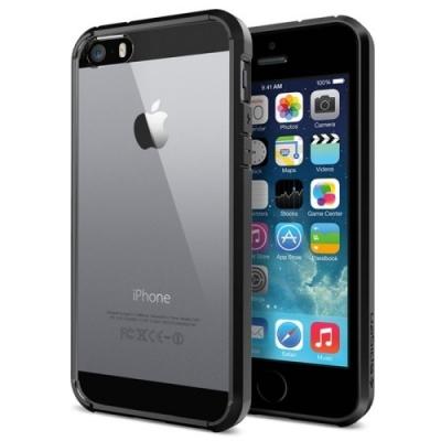 Kryštálový kryt s rámom pre iPhone 5/5S  - black