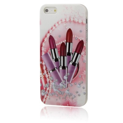 Ochranný kryt pre iPhone 5/5S- Pink Lipsticks
