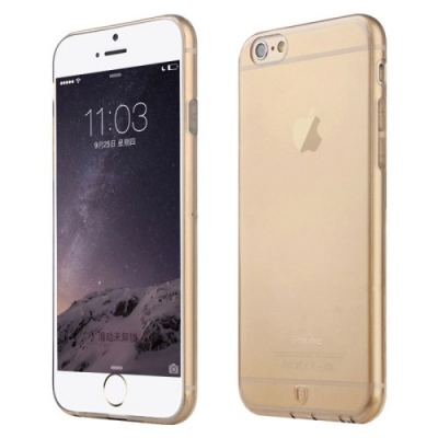 Baseus ultra tenký transparentný kryt pre iPhone 6 Plus - gold