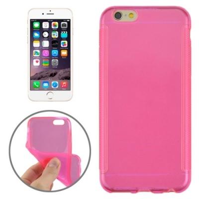 Ultra tenký transparentný flexi kryt pre iPhone 6 Plus - pink