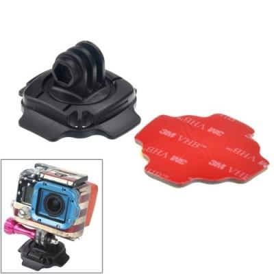 360° stupňový otočný adaptér na uchytenie športovej kamery a GoPro o helmu