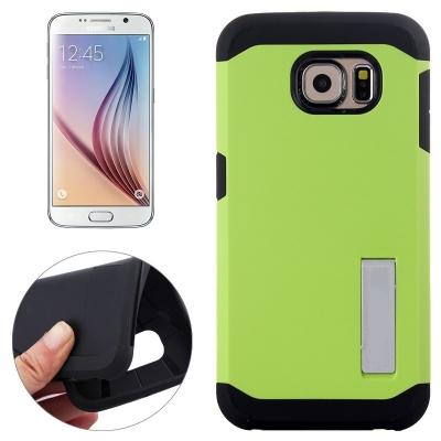 Ochranný kryt Slim Armor so stojanom na Samsung Galaxy S6/G920 - Zelený