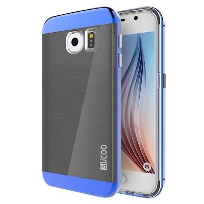 Ochranný kryt Slicoo so štruktúrou na Samsung Galaxy S6/G920 - Modrý