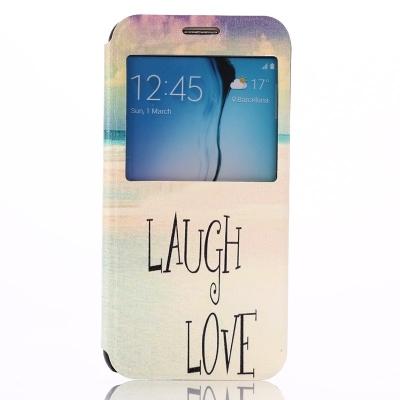 Dizajnové kožené puzdro pre Samsung Galaxy S6/G920 - Laugh love