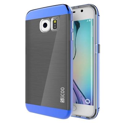 Ochranný kryt Slicoo so štruktúrou na Samsung Galaxy S6 Edge/G925 - Modrý