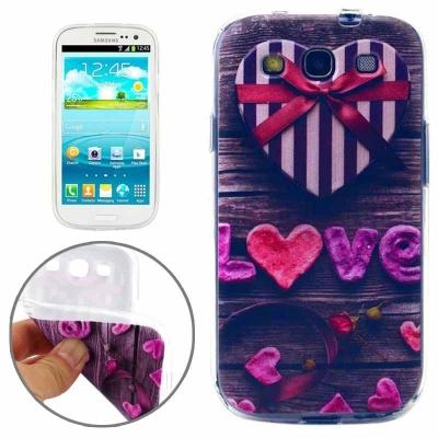 Ochranný TPU kryt na Samsung Galaxy S3 - Love Gift Box