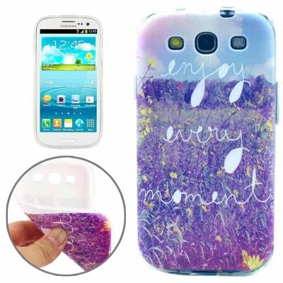 Ochranný TPU kryt na Samsung Galaxy S3 - Enjoy every moment