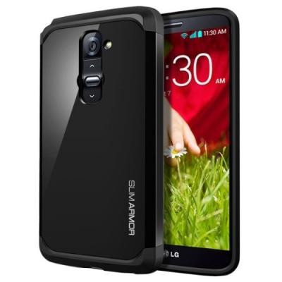 Odolný kryt pre LG G2 - Slim Armor Black
