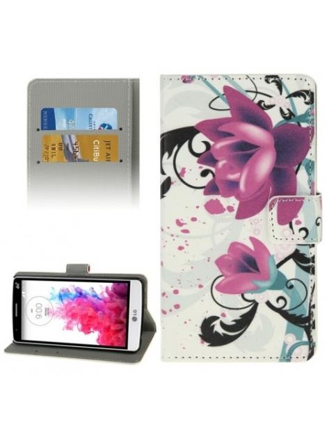 Kožené púzdro pre LG G3 mini - Purple Flowers