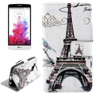 Kožené púzdro pre LG G3 mini - Eiffel Tower