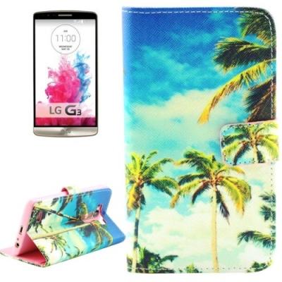 Kožené púzdro pre LG G3 - Coconut Trees