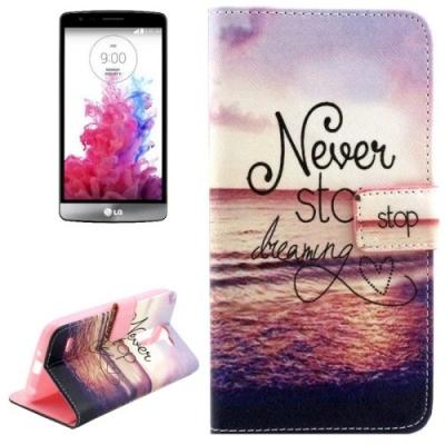 Kožené púzdro pre LG G3 - Never Stop Dreaming